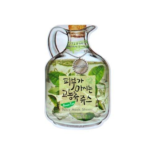 Тканевая маска с экстрактом зеленого чая Baviphat Green Tea Juicy Mask Sheet фото