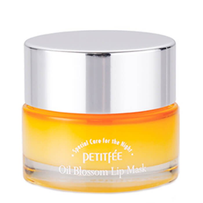 Маска для губ с облепихой Petitfee Oil Blossom Lip Mask Sea Buckthorn Oil фото