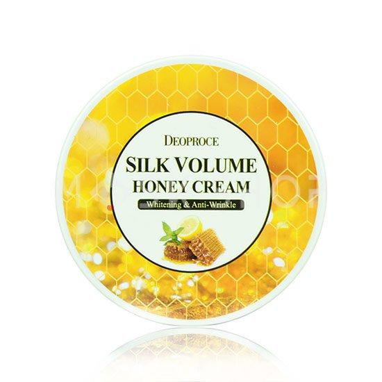Антивозрастной крем для лица на основе меда Deoproce Silk Volume Honey Cream фото