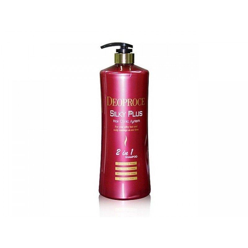 Шампунь-бальзам для окрашенных волос Deoproce Silky Plus 2 in 1 Shampoo фото