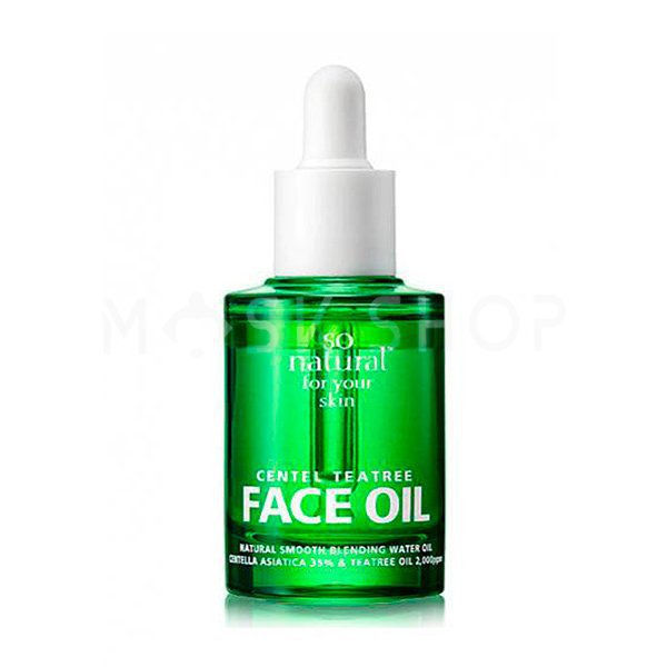 Купить Масло для лица с центеллой и экстрактом чайного дерева So Natural Centel Tea Tree Face Oil