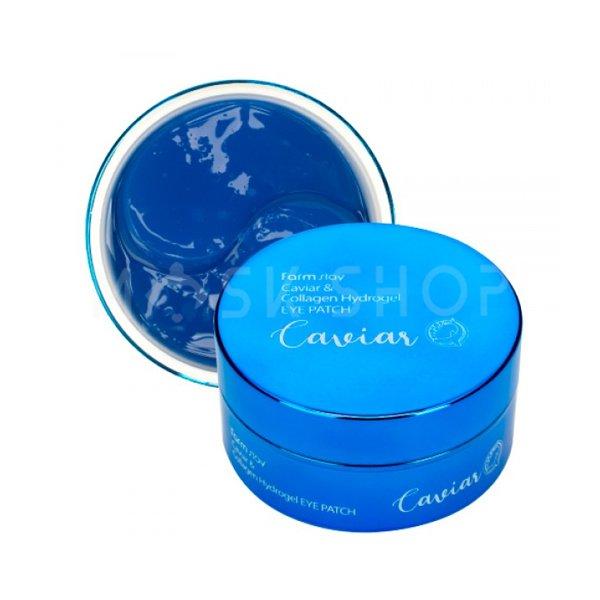 Гидрогелевые патчи для области вокруг глаз с икрой и коллагеном FarmStay Caviar & Collagen Hydrogel Eye Patch фото