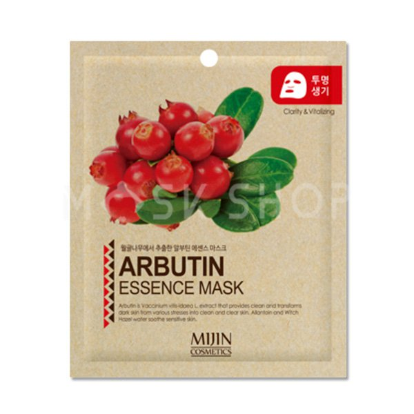 Купить Тканевая маска с арбутином Mijin Arbutin Essence Mask