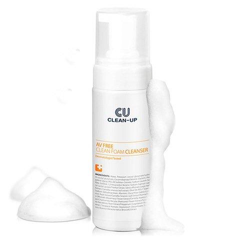 Очищающая пенка для проблемной и чувствительной кожи CU SKIN AV Free Clean Foam Cleanser фото