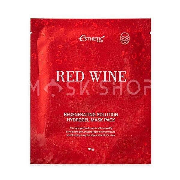 Гидрогелевая маска с экстрактом красного вина Esthetic House Red Wine Regeneration Solution Hydrogel Mask Pack фото