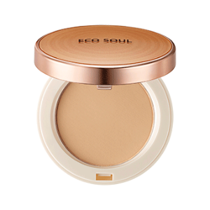 Компактная пудра The Saem Eco Soul Perfect Cover Pact 23 Natural Beige. Фото №4