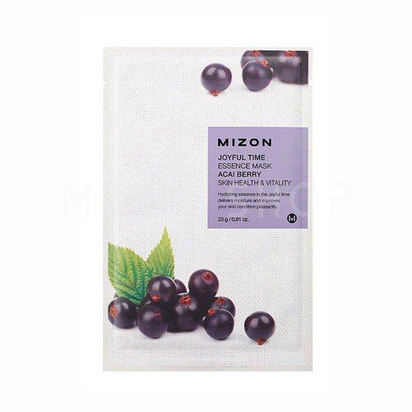 Тканевая маска для лица с экстрактом ягод асаи Mizon Joyful Time Essence Mask Acai Berry фото