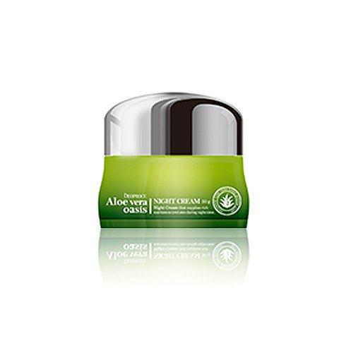 Ночной крем для лица с экстрактом алоэ вера Deoproce Aloe Vera Oasis Night Cream фото