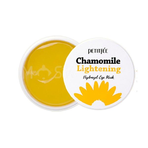 Патчи против темных кругов Petitfee Chamomile Lightening Hydrogel Eye Mask фото