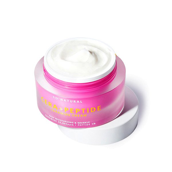 Купить Крем для лица с керамидами и пептидами So Natural Cera Peptide Ceramide Cream