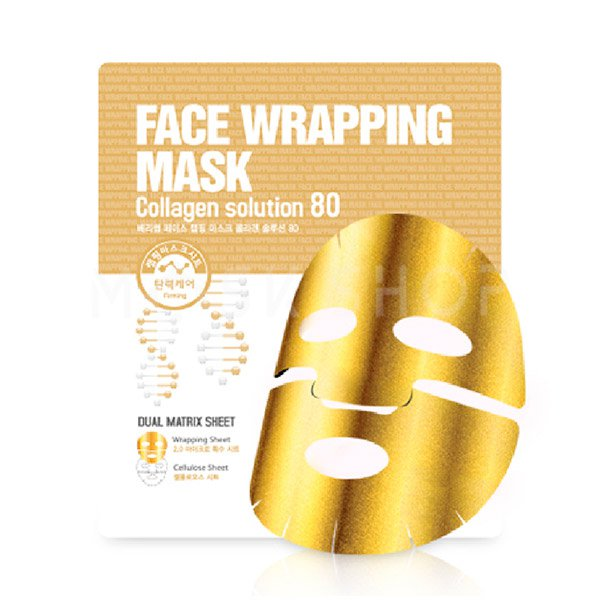 Маска с коллагеном Berrisom Face Wrapping Mask Collagen Solution 80 фото