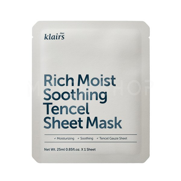 Успокаивающая маска Dear, Klairs Rich Moist Soothing Tencel Sheet Mask фото