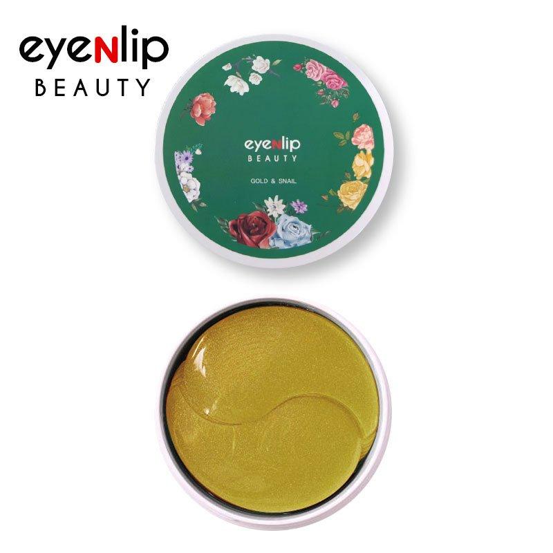 Гидрогелевые патчи с золотом и улиточным муцином Eyenlip Gold & Snail Eye Patch фото