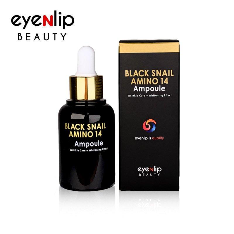 Сыворотка с аминокислотами и муцином улитки Eyenlip Black Snail Amino 14 Ampoule фото