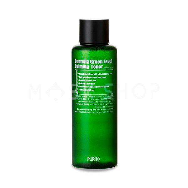 Купить со скидкой Бесспиртовый успокаивающий тонер с центеллой азиатской PURITO Centella Green Level Calming Toner