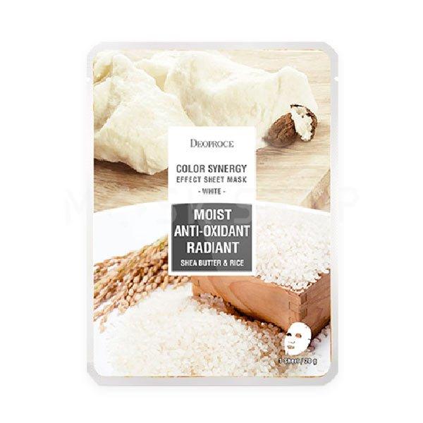 Тканевая маска экстрактом риса и масла ши Deoproce Moist Anti-Oxidant Radiant Shea Butter & Rice фото