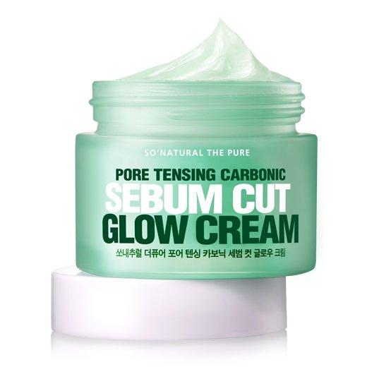 Купить Увлажняющий крем для сужения пор So Natural Pore Tensing Carbonic Sebum Cut Glow Cream