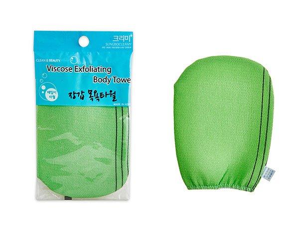 Мочалка-варежка для душа Sungbo Cleamy Viscose Exfoliating Body Towel фото