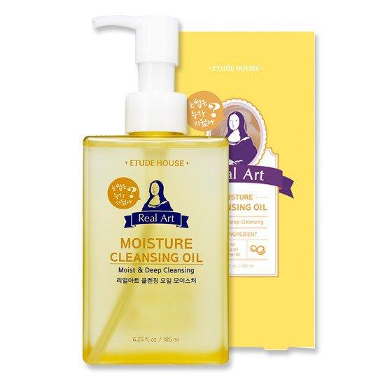 Гидрофильное масло для чувствительной и сухой кожи Etude House Real Art Moisture Cleansing Oil фото