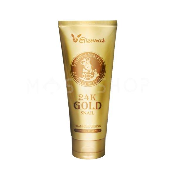 Пенка для умывания с муцином улитки и золотом Elizavecca 24K Gold Snail Foam Cleansing фото