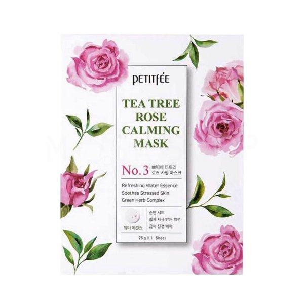 Тканевая маска с экстрактом чайного дерева и розы Petitfee Tea Tree Rose Calming Mask фото