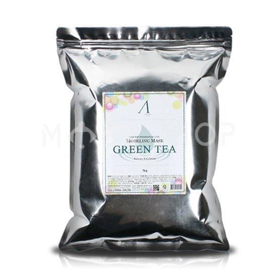 Купить Альгинатная маска с экстрактом зеленого чая успокаивающая Anskin Green Tea Modeling Mask 1 кг