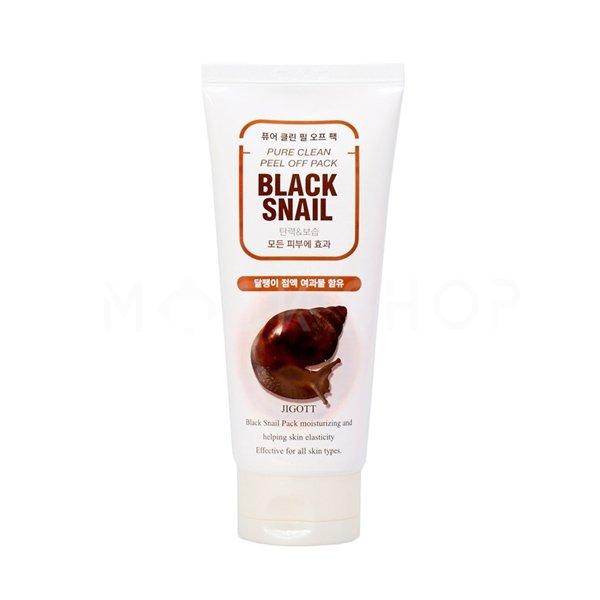 Купить Очищающая маска-плёнка с муцином черной улитки JIGOTT Black Snail Pure Clean Peel Off Pack