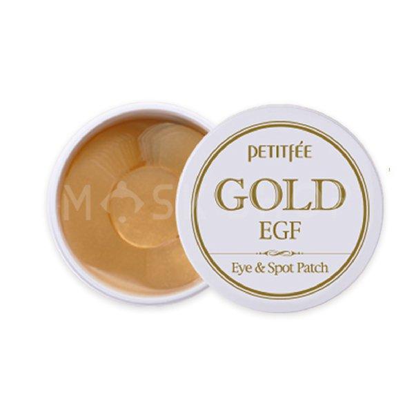 Гидрогелевые патчи с золотом Petitfee Gold EGF Eye & Spot Patch фото