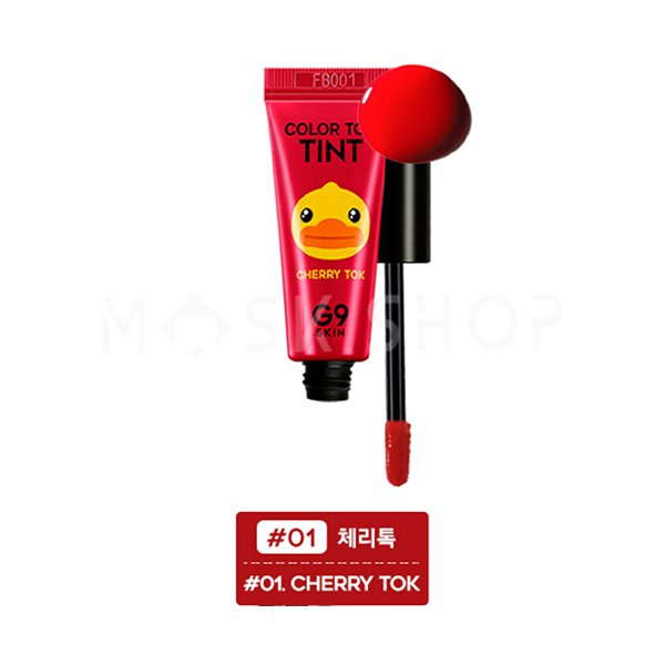 Тинт для губ вишня G9Skin Color Tint Cherry Tok #01 фото
