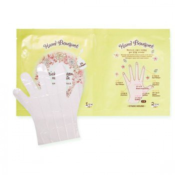 Маска для рук с коллагеном Etude House Hand Bouquet Rich Collagen Hand Mask. Фото №2