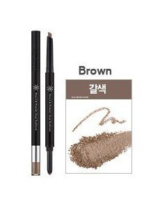 MISSHA The Style Pencil & Powder Dual Eye Brow [Brown]