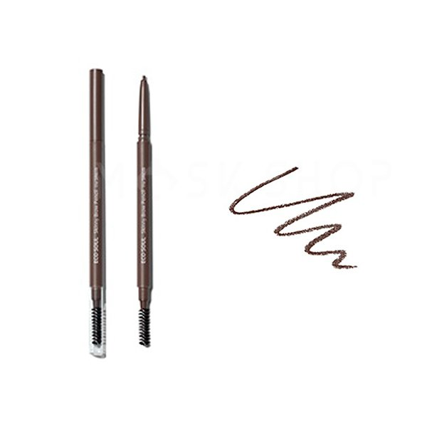 Купить Карандаш для бровей The Saem Eco Soul Skinny Brow Pencil 03 Dark Brown