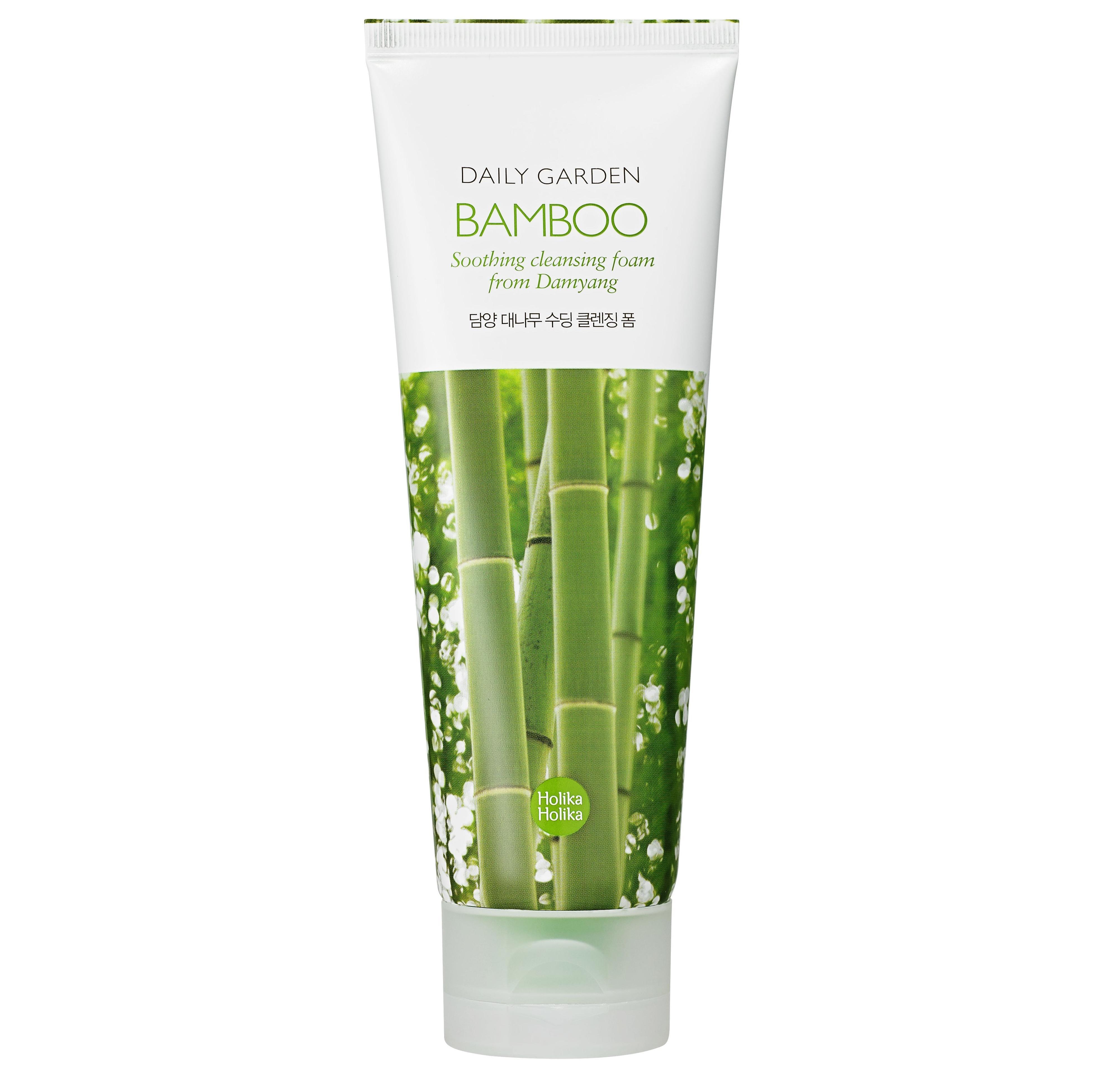 Купить Очищающая пенка с экстрактом бамбука Holika Holika Daily Garden Bamboo Cleansing Foam