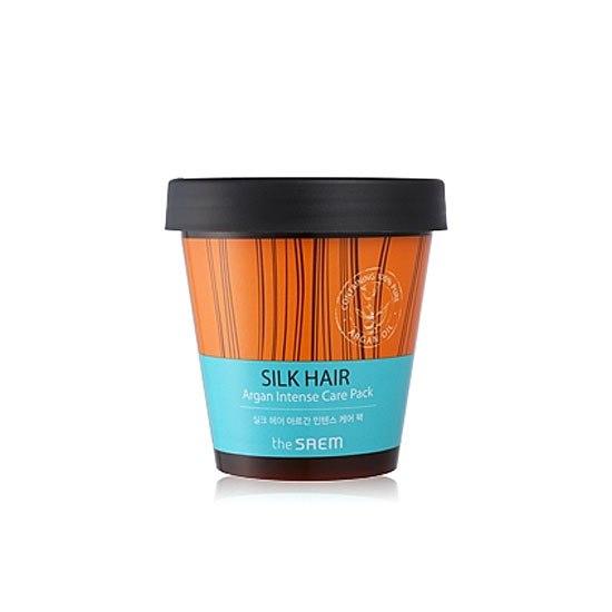 Интенсивная маска для волос с аргановым маслом The Saem Silk Hair Argan Intense Care Pack фото