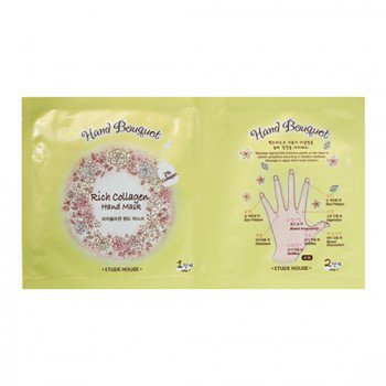 Маска для рук с коллагеном Etude House Hand Bouquet Rich Collagen Hand Mask