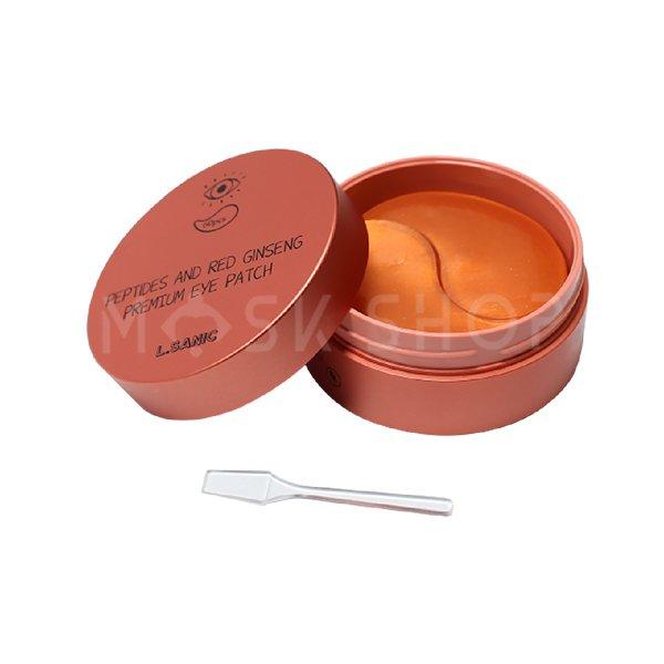Гидрогелевые патчи с экстрактом красного женьшеня L.Sanic Peptides and Red Ginseng Premium Eye Patch фото