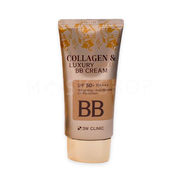 ББ–крем с коллагеном и золотом 3W Clinic Collagen & Luxury Gold BB Cream фото