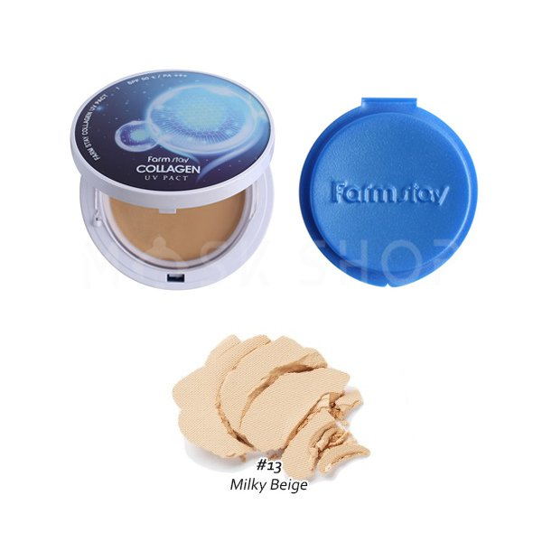 Пудра с коллагеном Farm Stay Collagen 13 Milky Beige