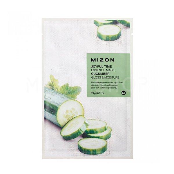 Тканевая маска для лица с экстрактом огурца Mizon Joyful Time Essence Mask Cucumber фото