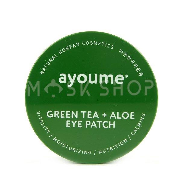 Гидрогелевые патчи против отечности Ayoume Green Tea Aloe Eye Patch фото