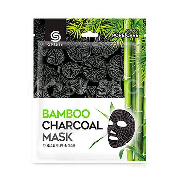 Тканевая маска с бамбуковым углем G9SKIN Bamboo Charcoal Mask фото