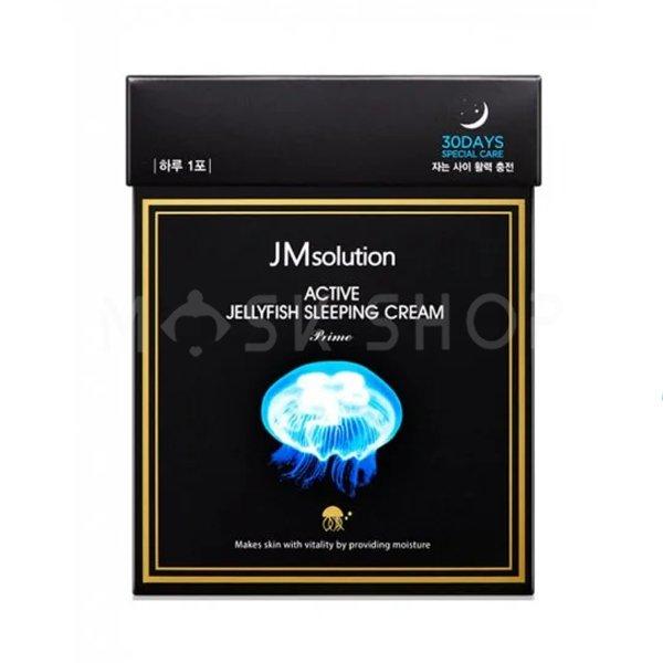 Ночной увлажняющий крем с экстрактом медузы JMsolution Active Jellyfish Sleeping Cream Prime фото