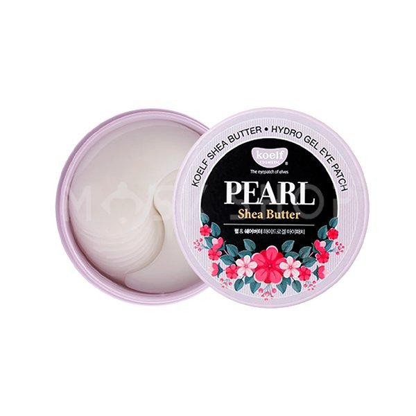 Гидрогелевые патчи с маслом ши и жемчужной пудрой Koelf Hydro Gel Pearl & Shea Butter Eye Patch фото