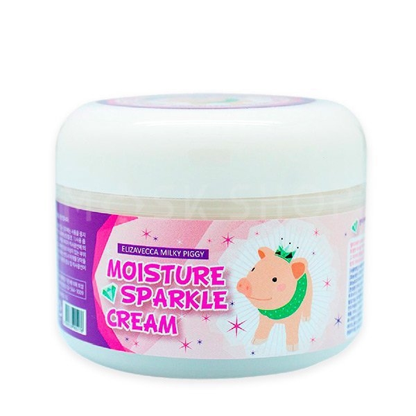 Увлажняющий крем для сияния кожи Elizavecca Milky Piggy Moisture Sparkle Cream фото