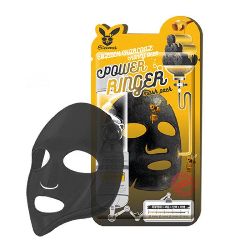 Купить Маска с древесным углем и медом Elizavecca Deep Power Ringer Mask Pack Black Charcoal Honey