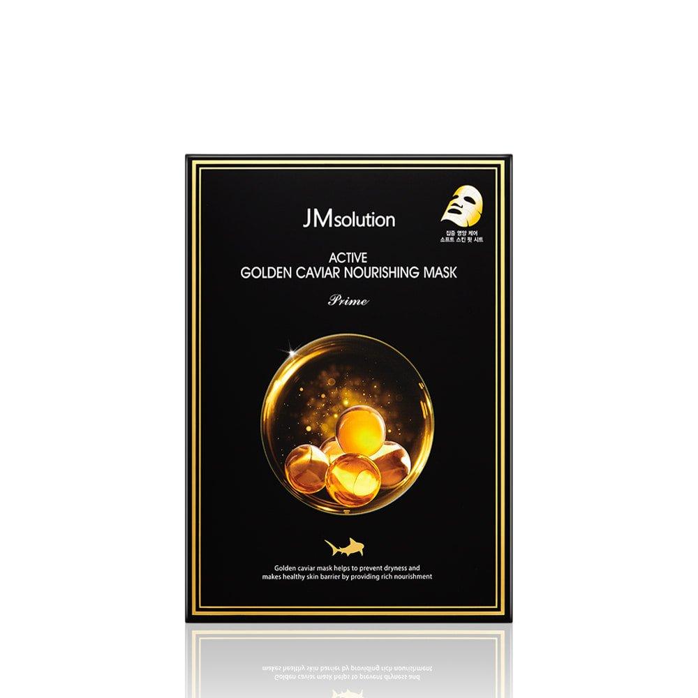 Тканевая маска с экстрактом икры и золота JMSolution Active Golden Caviar Nourishing Mask Prime фото