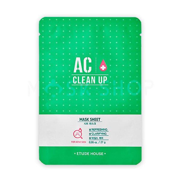 Тканевая маска для проблемной кожи Etude House AC Clean Up Mask Sheet фото