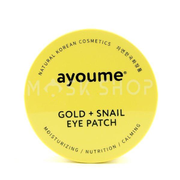 Гидрогелевые патчи с золотом и муцином улитки Ayoume Gold Snail Eye Patch фото