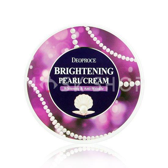Питательный крем для лица с экстрактом жемчуга Deoproce Brightening Pearl Cream фото