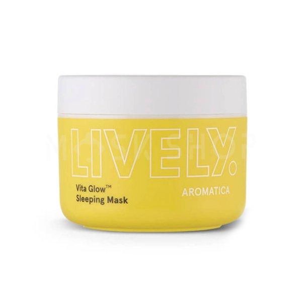 Витаминная маска для сияния кожи Aromatica LIVELY Vita Glow Sleeping Mask фото